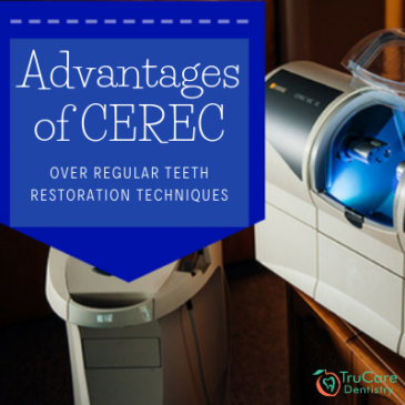What are the advantages of CEREC over regular teeth restoration techniques?