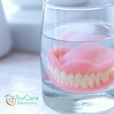 clean my dentures