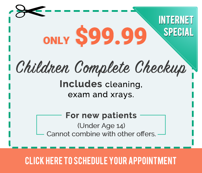 Promotions & Special offers TruCare Dentistry $99 Children Complete Checkup